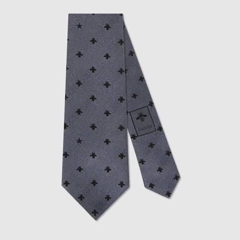 蜜蜂和星星真丝领带