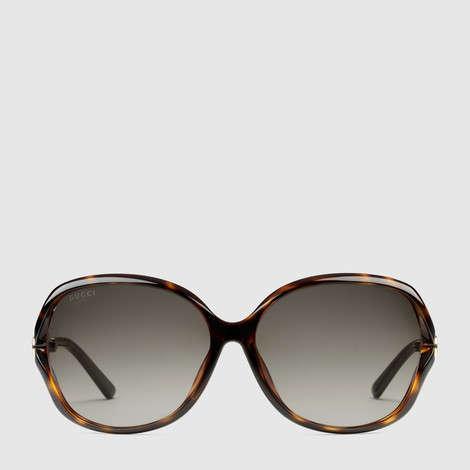 超大号圆形镜架太阳眼镜