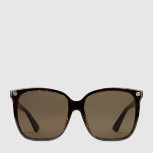 超贴合方形镜架醋纤太阳眼镜