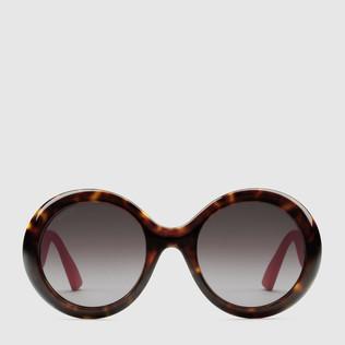 圆形镜架醋纤太阳眼镜