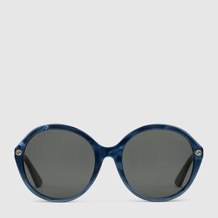 超贴合圆框醋纤太阳眼镜
