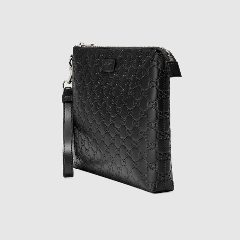 e465797bc7c2 Gucci Signature Soft Messenger In Black | ModeSens