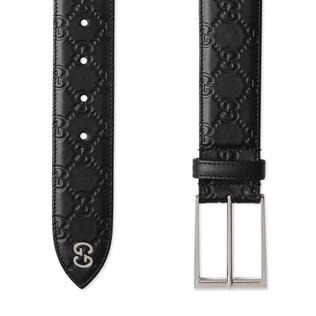 Gucci Signature腰带,配以GG细节