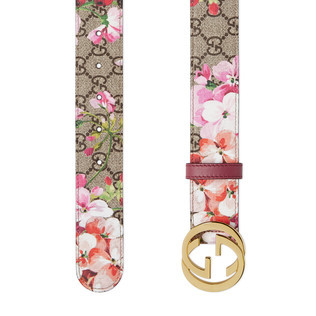 GG Blooms 印花腰带