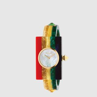 有机玻璃彩虹腕表,24x40毫米