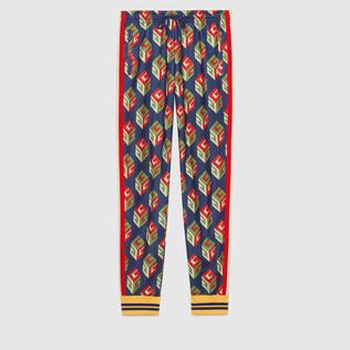 GG壁纸平纹针织长裤