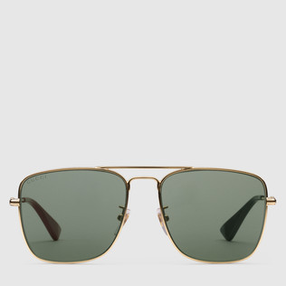 方形镜架金属太阳眼镜