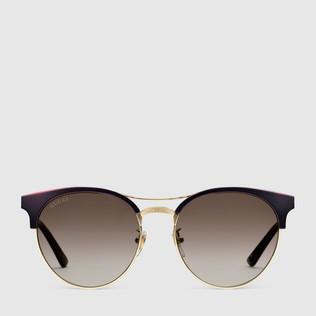 圆形镜架金属太阳眼镜