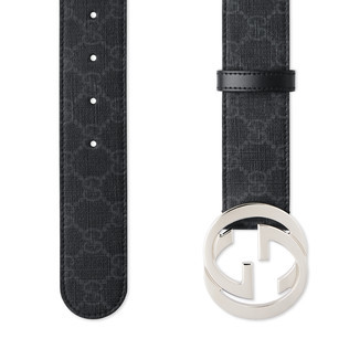 双G带扣GG高级人造革腰带