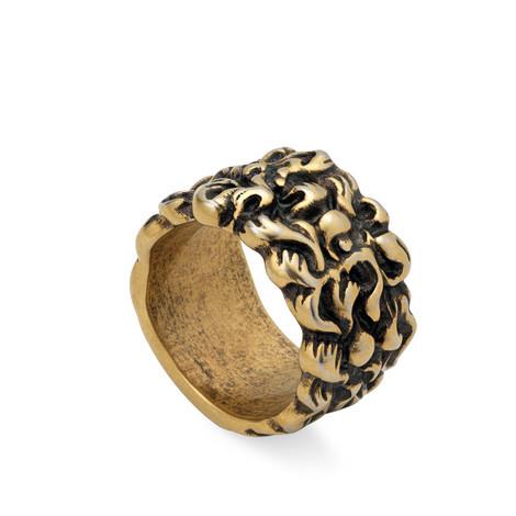 狮鬃造型戒指