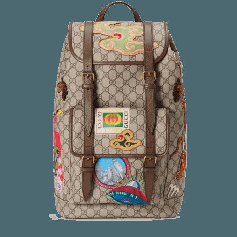 Gucci Courrier 系列柔软高级人造帆布背包