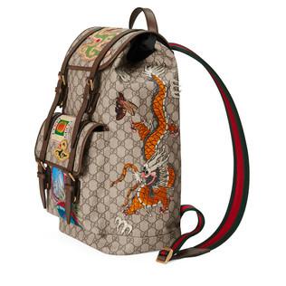 Gucci Courrier柔软GG Supreme高级人造帆布背包