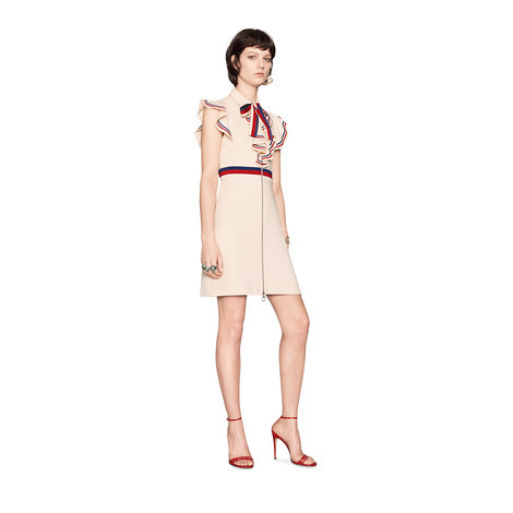 Sylvie 系列织带装饰弹力针织连衣裙