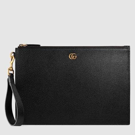 GG Marmont系列皮革手拿包