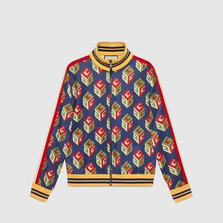 GG壁纸平纹针织夹克