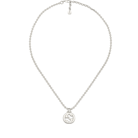 Interlocking G纯银项链