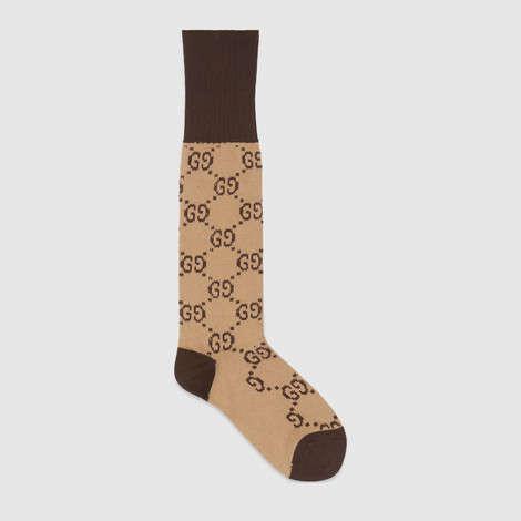 GG图案棉质混纺短袜