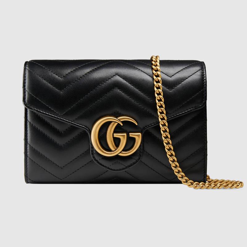 841341931bc Gucci Gg Marmont MatelassÉ Mini Bag In Black   ModeSens