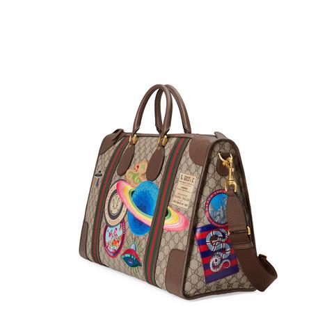 Gucci Courrier柔软GG Supreme高级人造帆布行李包