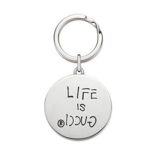 GucciGhost纯银珐琅钥匙扣