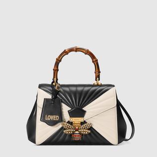 Queen Margaret绗缝真皮手提包