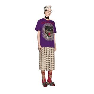 豹子和射线纯棉T恤