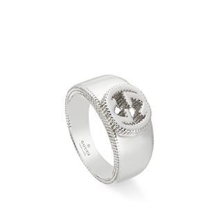Interlocking G纯银戒指