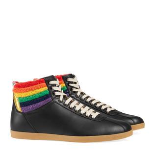 彩虹高帮运动鞋