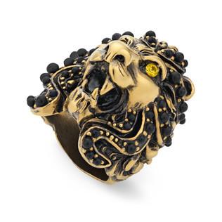 狮头水晶戒指