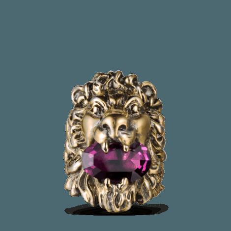 施华洛世奇水晶装饰狮头戒指