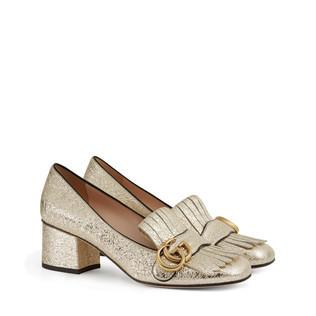 金属质感中跟浅口鞋