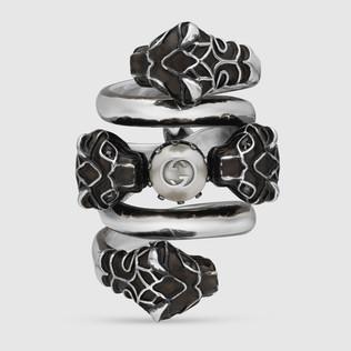 虎头双环戒指