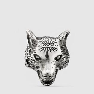 Anger Forest 狼头银戒指