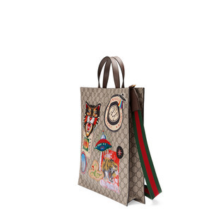 Gucci Courrier柔软GG Supreme高级人造帆布购物袋