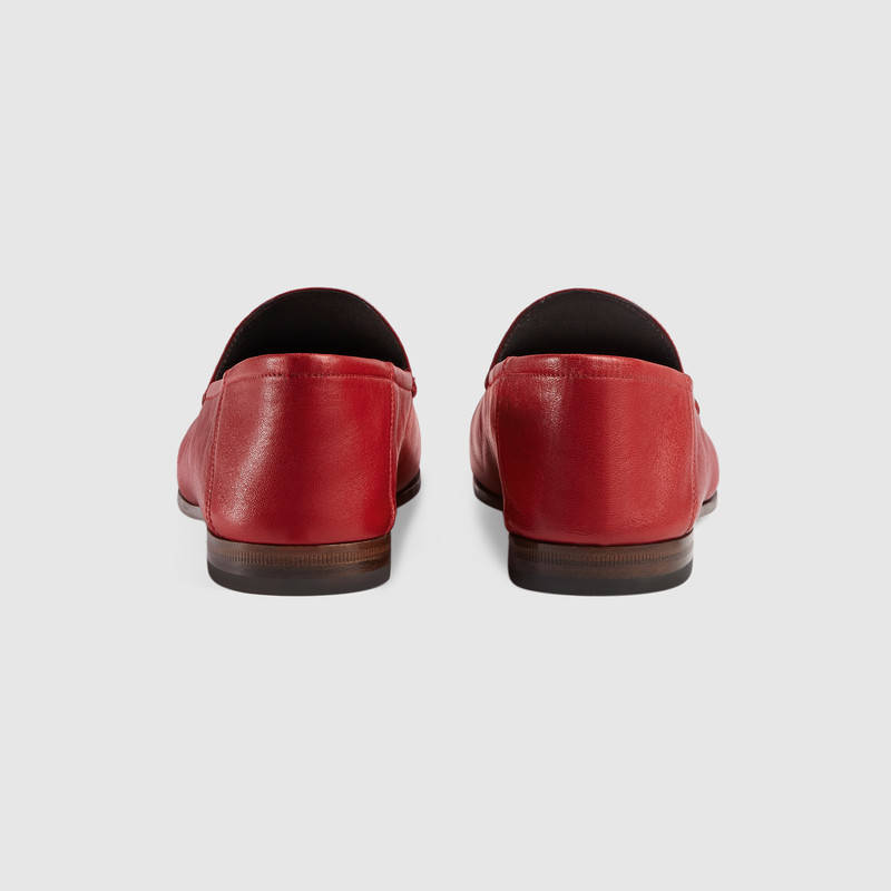 Gucci Brixton Horsebit-Detailed Leather Collapsible-Heel Loafers In Red