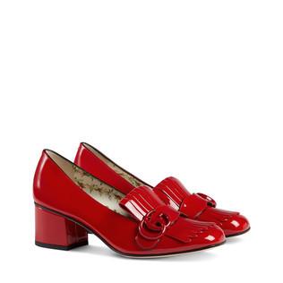 Marmont漆皮中跟浅口鞋