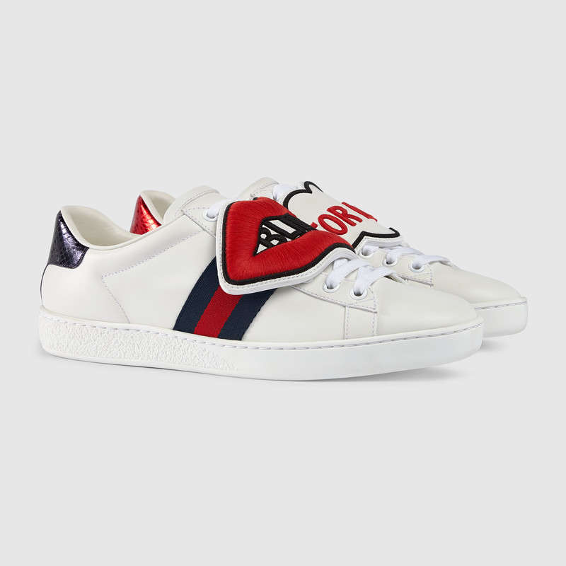 9bcd7b490796 Gucci New Ace Blind For Love New Ace Sneakers