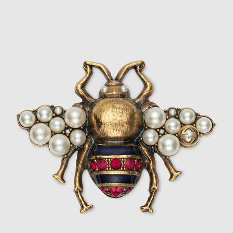 饰水晶珍珠蜜蜂造型胸针