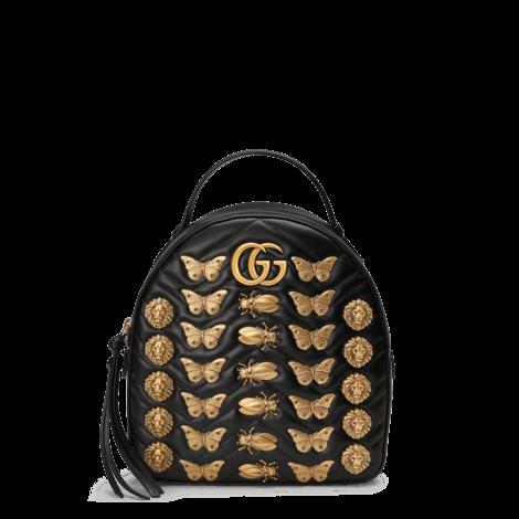 GG Marmont系列动物造型铆钉皮革背包