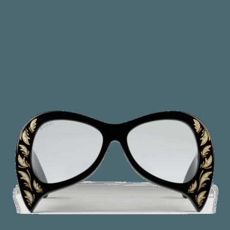 饰珍珠母贝细节超大造型太阳眼镜