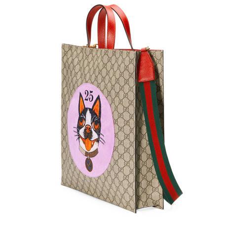 Bosco图案高级人造帆布购物袋