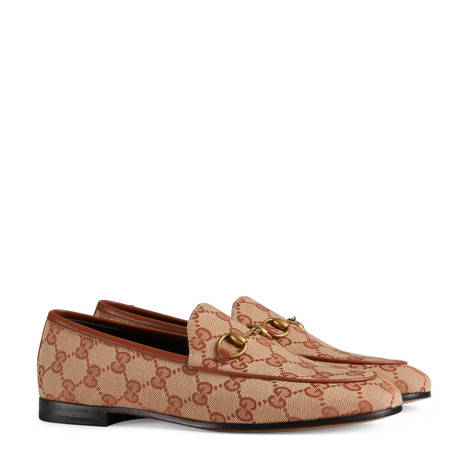 Gucci Jordaan系列GG帆布乐福鞋