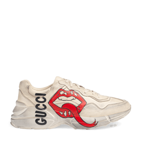 Rhyton系列饰嘴唇印花运动鞋