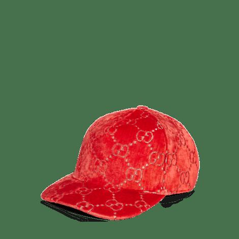 GG天鹅绒棒球帽