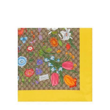 GG花卉印花真丝方巾