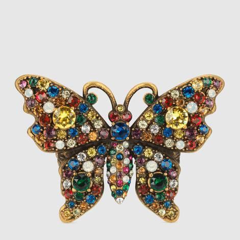 饰水晶饰钉金属蝴蝶戒指