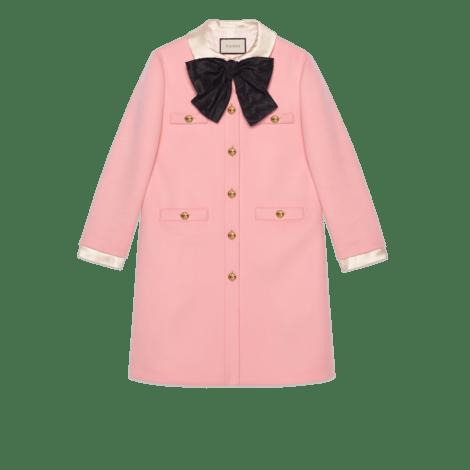 蝴蝶结羊毛大衣