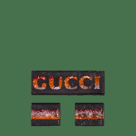 Gucci亮片发带和腕带