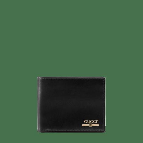 饰Gucci标识皮革钱包