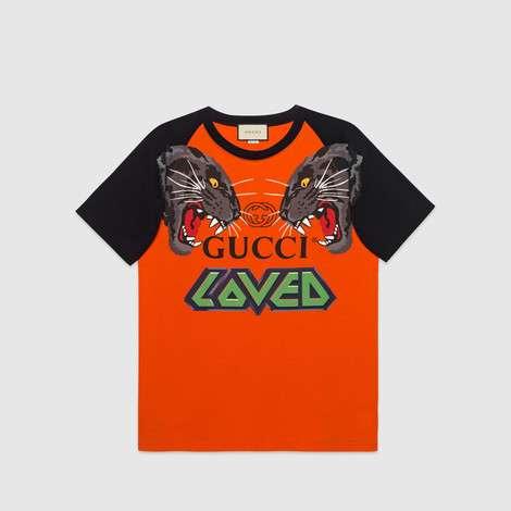 老虎图案超大造型T恤